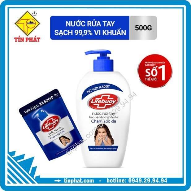 Nước rửa tay Lifebuoy chăm sóc da (túi 450g)