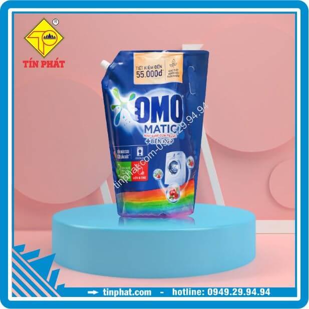 Túi Nước Giặt Omo Matic XANH Bền Màu Cửa Trước (2kg-2.9kg-3.7kg)